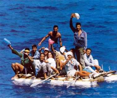 Cubans on a raft