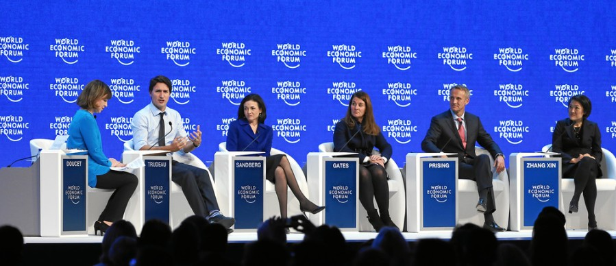 davos forum trudeau sandberg gates globalists