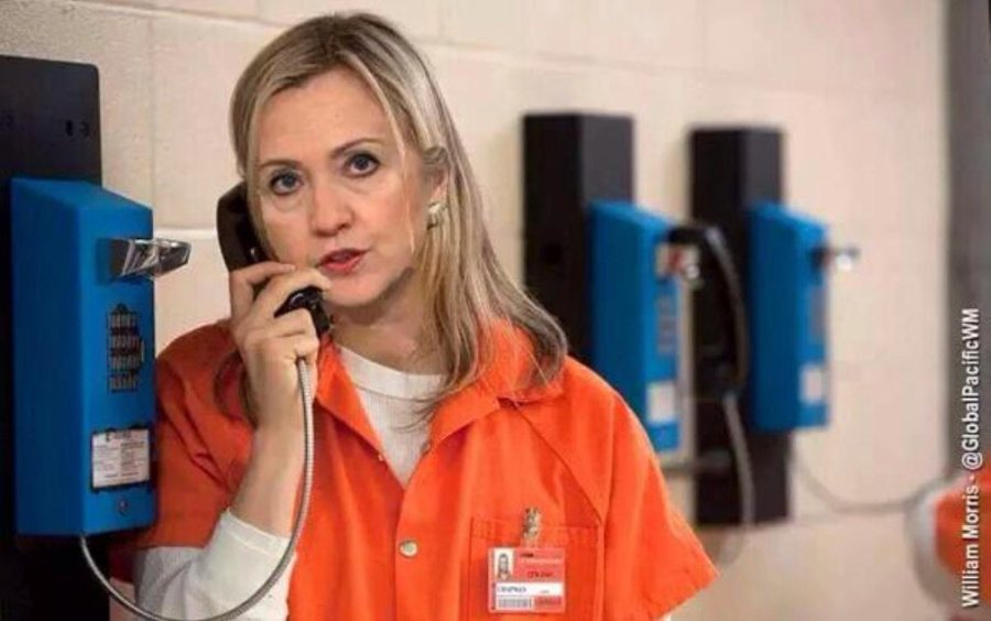 Hillary makes phone call from prison