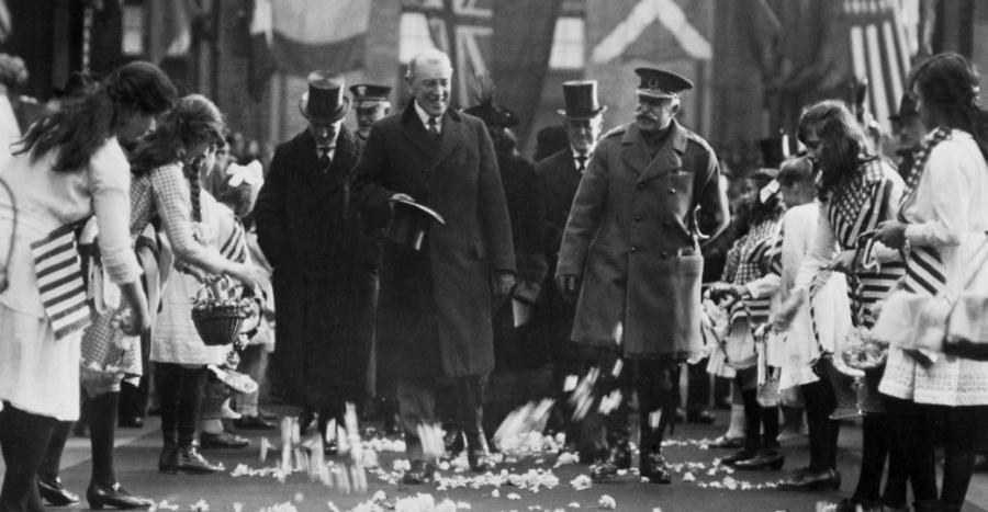 woodrow wilson joseph stalin walking treaty of versailles independence league of nations