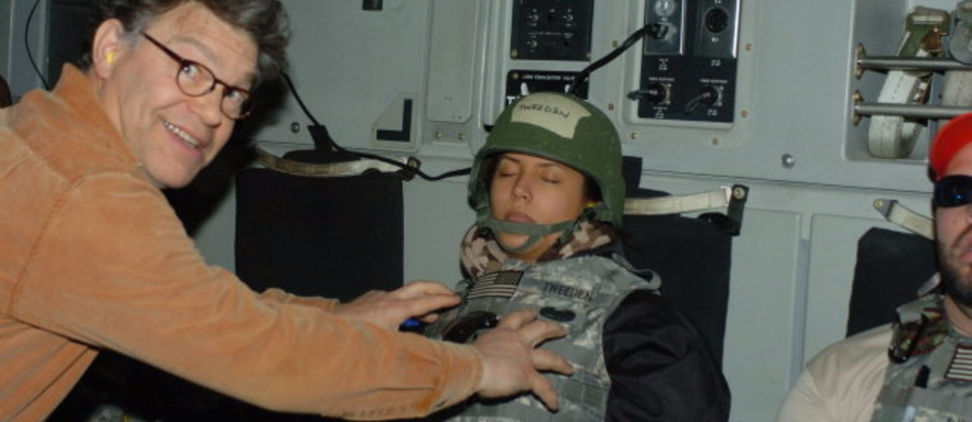 al franken sexual assault military trump