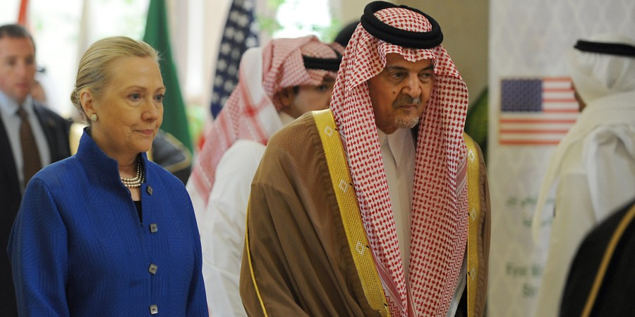 hillary saudi arabia donors puppet marching orders